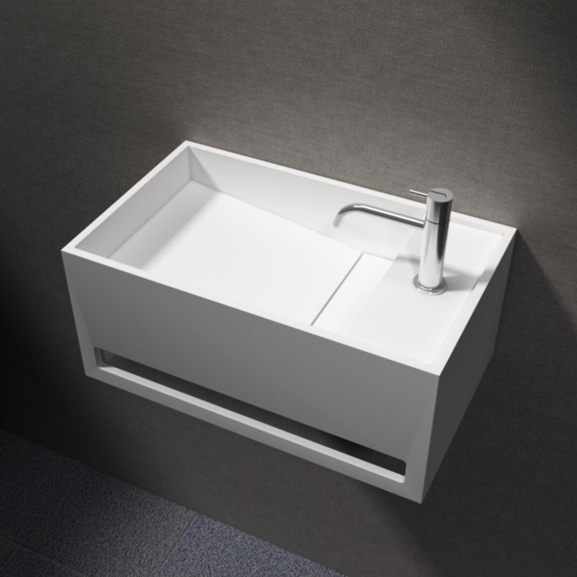 waschbecken wandwaschbecken pb2078 mit integriertem. Black Bedroom Furniture Sets. Home Design Ideas