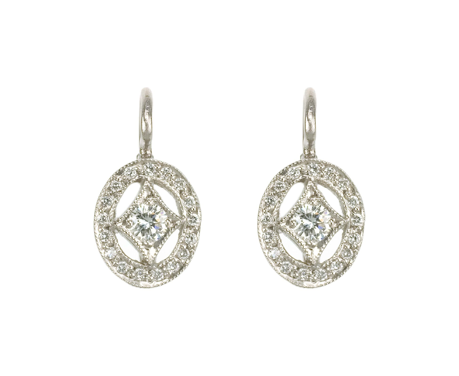 Oval Diamond Frame Earrings Cathy Waterman And Julia Roberts Lancôme