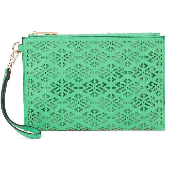 ALDO Daves ($15) ❤ liked on Polyvore featuring bags, handbags, clutches, purses, medium green, wristlet handbags, green wristlet, hand bags, handbag purse and aldo handbags