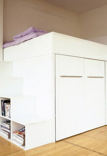 combin lit dressing biblioth que extrait d 39 organiser ses rangements de cyrille fr mont. Black Bedroom Furniture Sets. Home Design Ideas