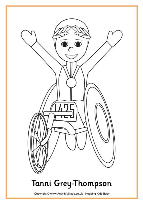 Tanni Grey Thompson Colouring Page Business For Kids Coloring