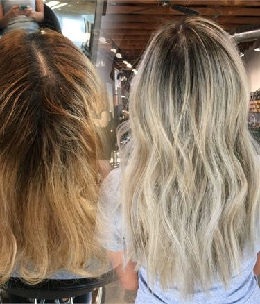From Brass To Low Maintenance Ash Sombre - Career | Balayage, Salons ...