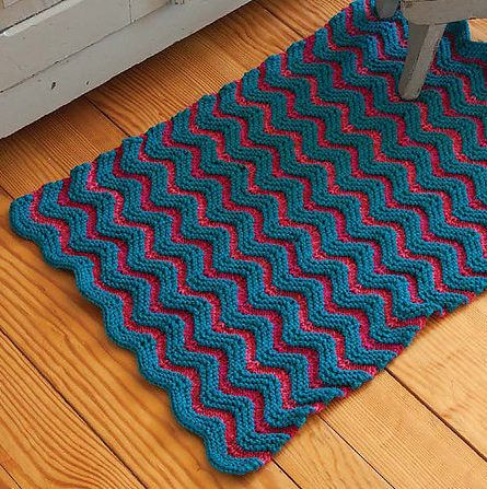 Knitting Pattern For Zigzag Rug One Of The Patterns In Rugs 39 Traditional