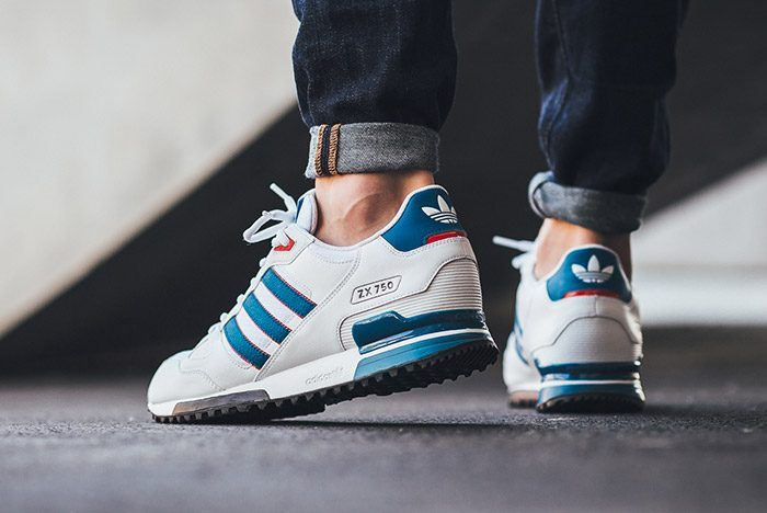 low priced ccb63 65350 adidas ZX 750 (White/Blue/Red) | Adidas in 2019 | Sneakers ...