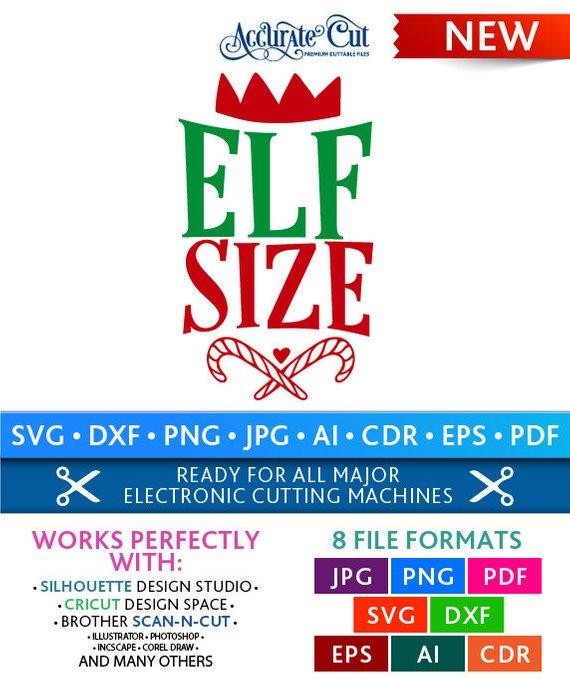 Elf Size Svg Elf Size Cut Files Christmas Silhouette Studio Cricut