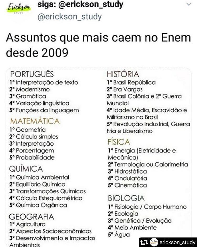 Pin De Eduarda Santos Em School Em 2020 Estudos Para O Enem