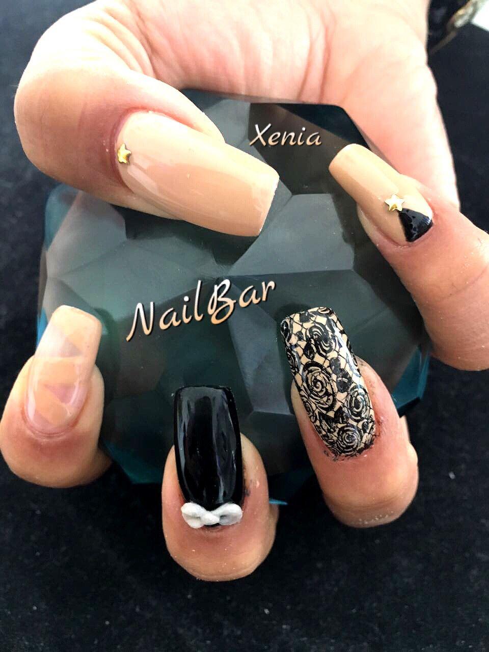 Uñas sellos 3D. Nails by Xenia Alvarado | Uñas...Nail Bar | Pinterest