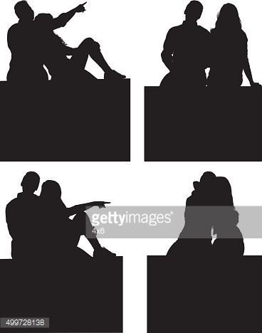 couple sitting silhouette google search i n s p i r a t i o n in
