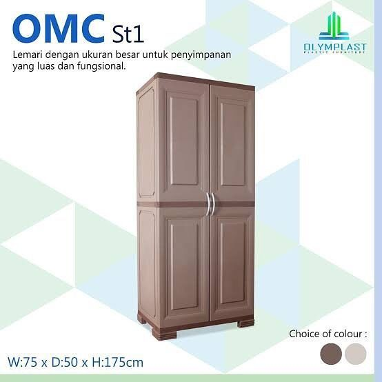 OMC ST1 2 door plastic cabinet Strong, durable, waterproof a…