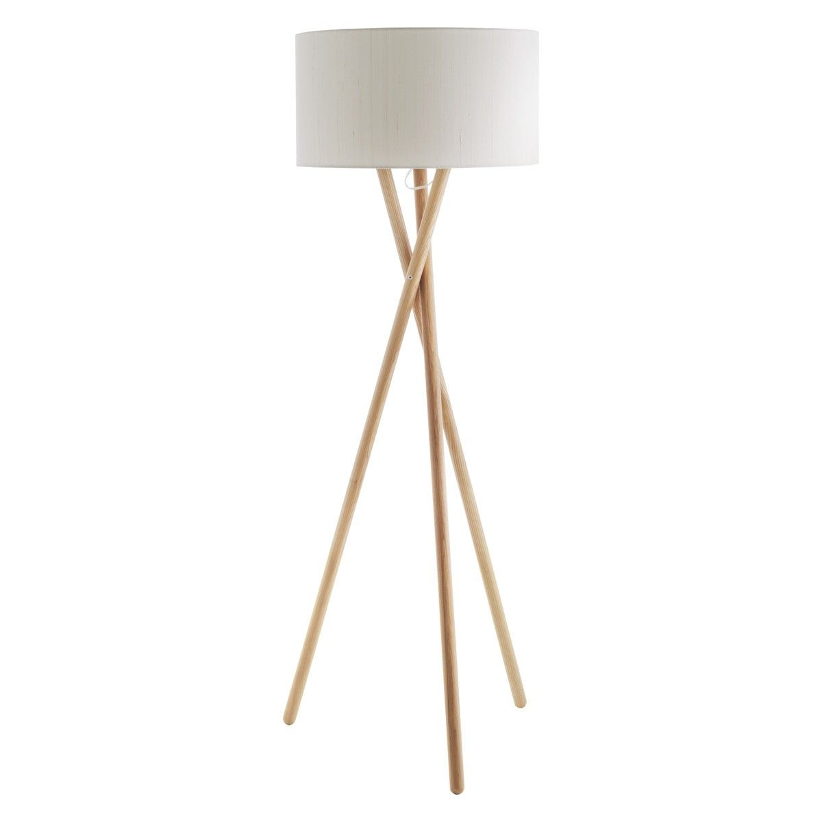 Wood floor lamp with table - Lansbury Ash Wooden Tripod Floor Lamp Base
