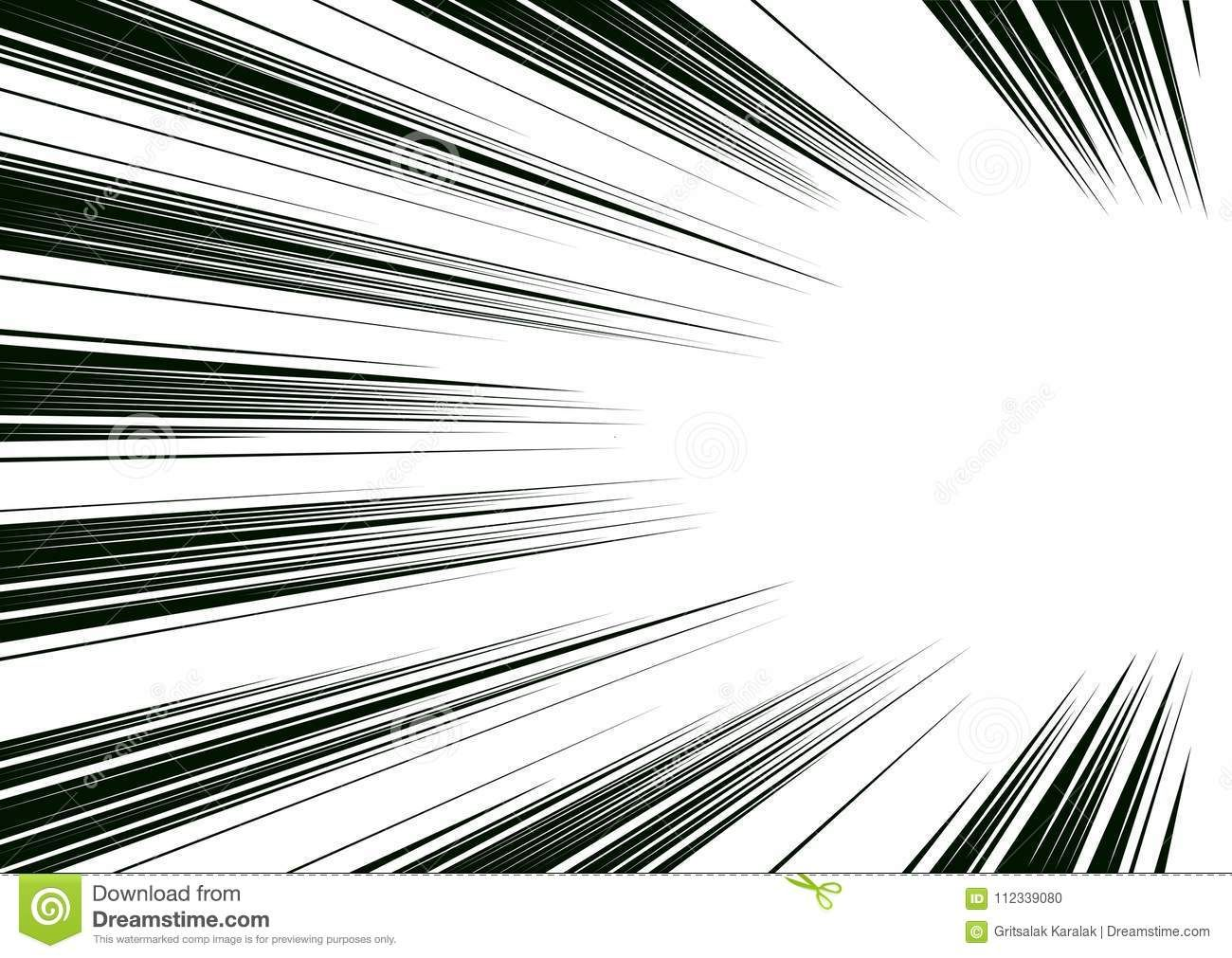 Comic And Manga Books Speed Lines Background Superhero Action Explosion Background Black And White Stock Illustration Line Background Background Screentone