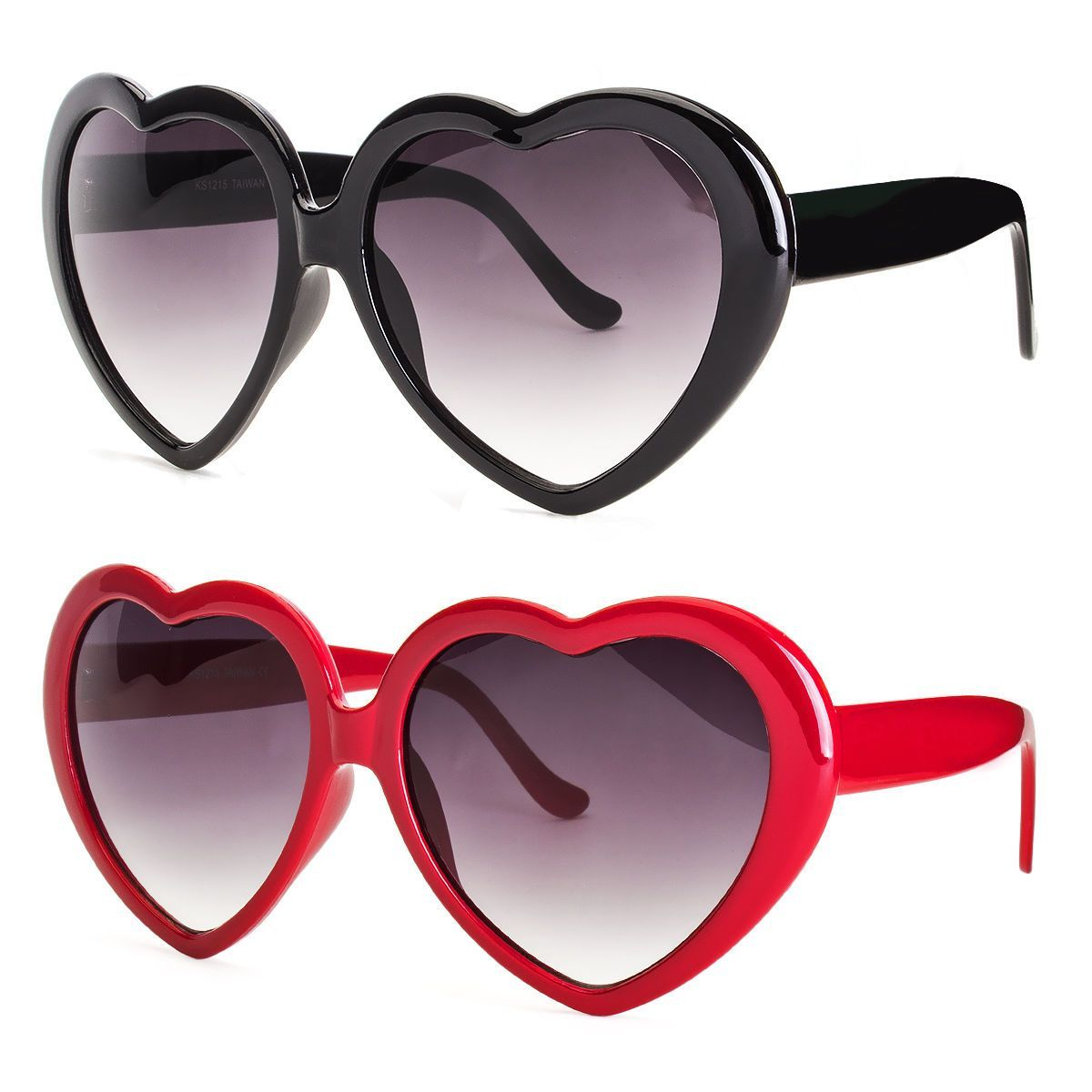 4dbb39883c Vintage Retro Fashion Lolita Heart Shaped Pilot Black Frame Women Sunglasses  X