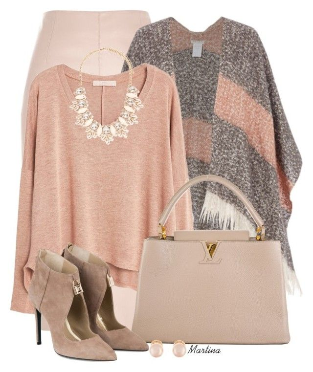 """""""Bez naslova #2310"""" by martina-cciv ❤ liked on Polyvore featuring River Island, MANGO, Louis Vuitton, Forever 21 and Kenneth Jay Lane"""