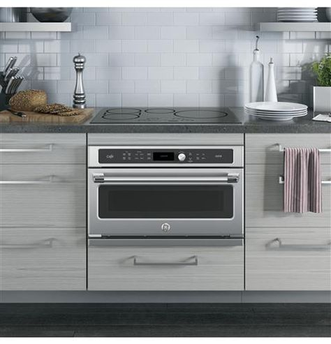 Ge Cafe Series 30 In Single Wall Oven With Advantium Technology Csb9120sjss Convection Wall Oven Wall Oven Small Wall Oven