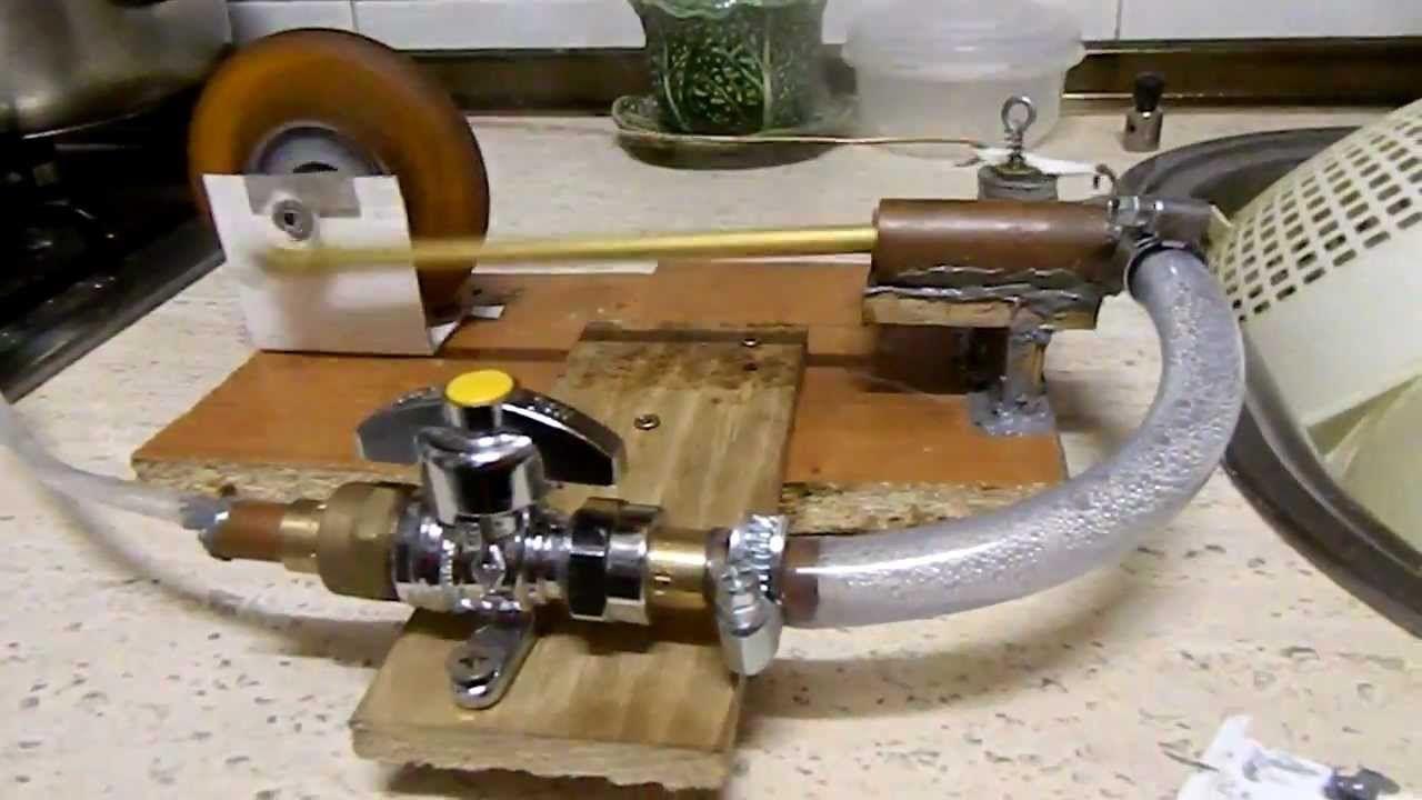 como hacer una máquina de vapor casera