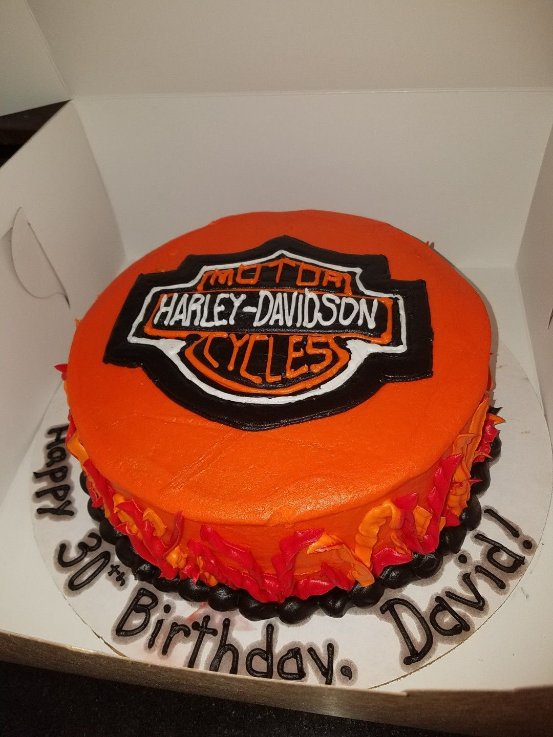 All Buttercream Harley Davidson Cake Make Sure Your Cake Board Is