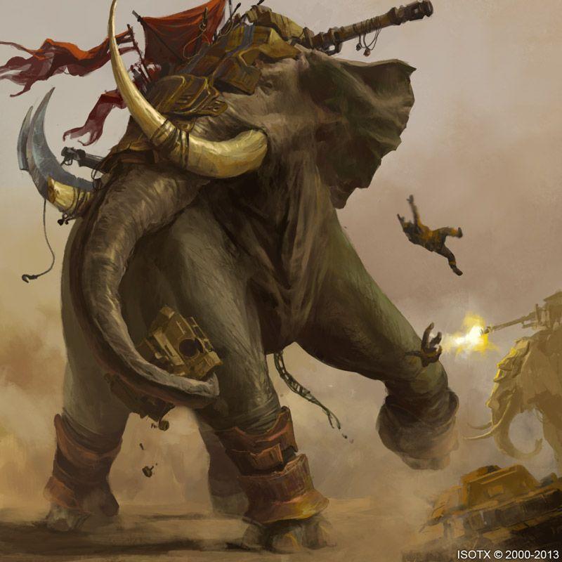 War Elephant by ISOTXART on deviantART | War elephant, Elephant art, War art