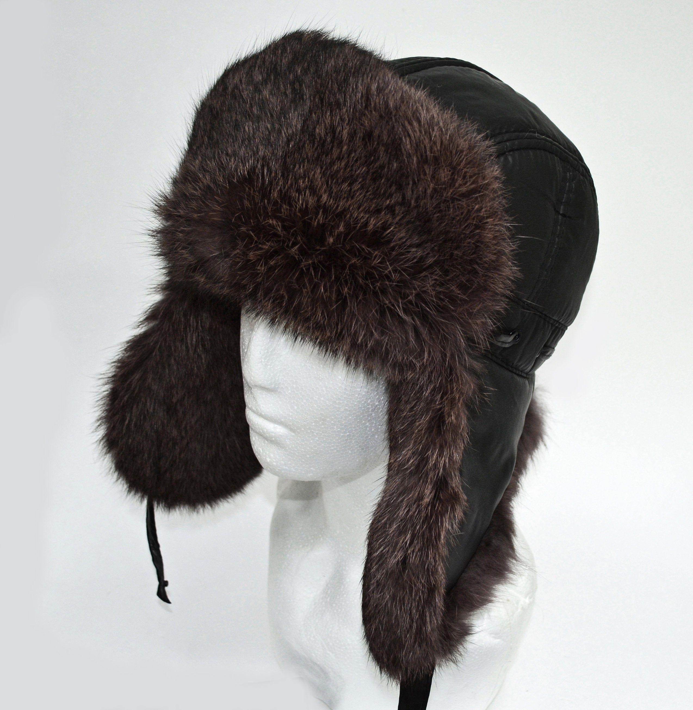 By Order Fur Ear Flap Hat Men Real Fur Hat Trapper Hat Etsy Ear Flap Hats Fur Hat Trapper Hats