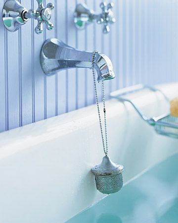 How to Make a Fragrant Tea Ball Bath Infuser by marthastewart #Bath_Infuser #DIY #marthastewart