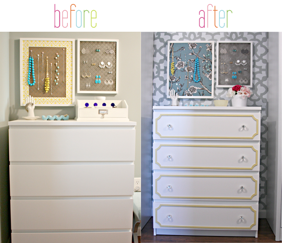 Iheart Organizing Ikea Malm Dresser Update Using Overlays