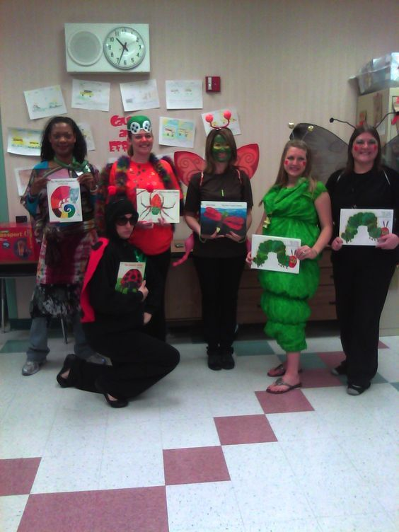Book Character Costume Ideas I Love The Very Hungry Caterpillar Teacher Costumes Book Day Costumes Book Costumes