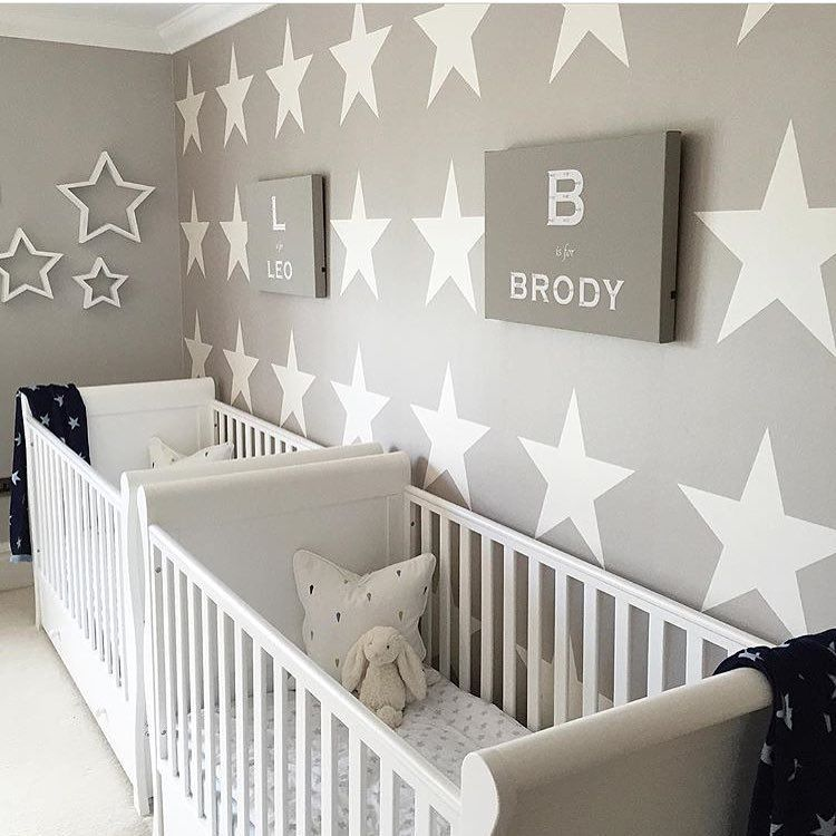 Baby Room Ideas For Twins This star themed twin nursery is adorable! Thanks for the tag  @hesellicdesign