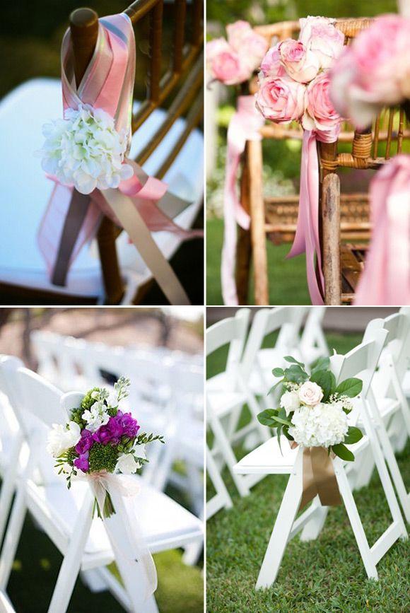 ideas para decorar los pasillos con arreglos florales de la ceremonia en tu boda