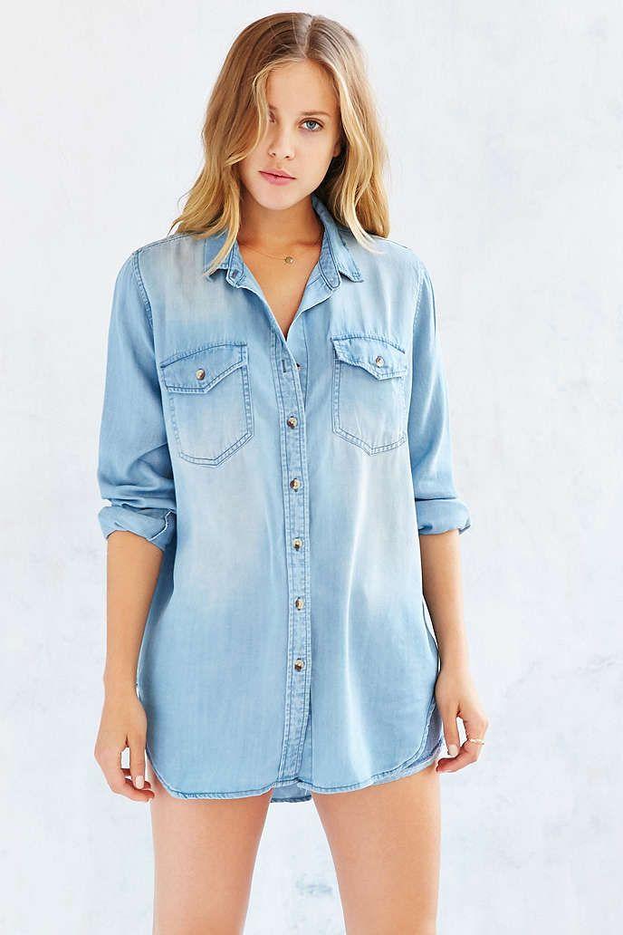 109559978 BDG Drapey Chambray Button-Down Shirt - Urban Outfitters | Wear ...