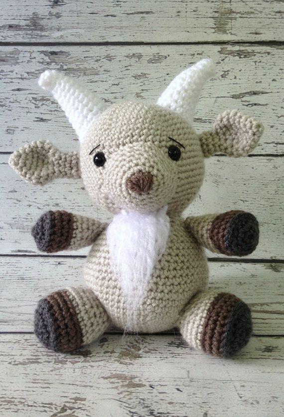 Amigurumi Crochet Pattern - Gordy the Goat | Crochet patterns ... | 835x570