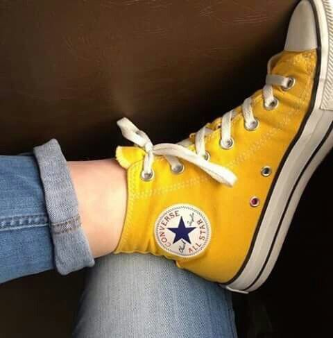 converse jaunes