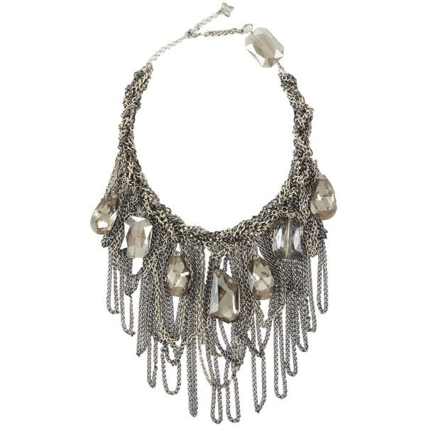 ffa4871cf76 BCBGMAXAZRIA Braided Chain And Stone Necklace (1.173.480 IDR) ❤ liked on  Polyvore featuring jewelry
