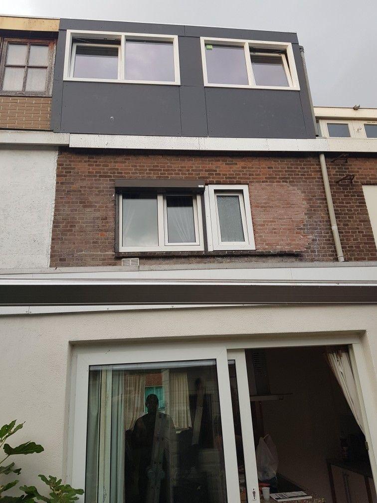 Dakopbouw Rotterdam. Deze dakkapel is volledig kunststof