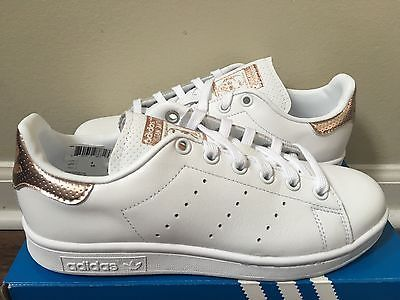 Women s Adidas Stan Smith Copper White Rose Gold BB1434 Size 5-11 NEW  LIMITED 25515e22f
