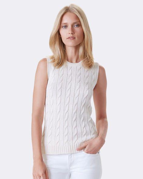 Cable-Knit Silk Sweater - Collection Apparel Scoop, Crew & Boatnecks - RalphLauren.com