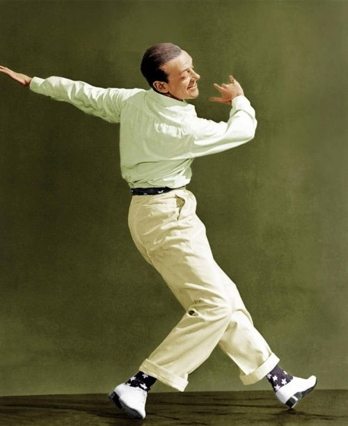 Fred Astaire. Love the drapery in-motion.