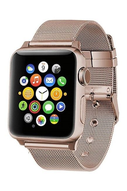 POSH TECH Rose Gold Stainless Steel 42mm Apple Watch 1/2