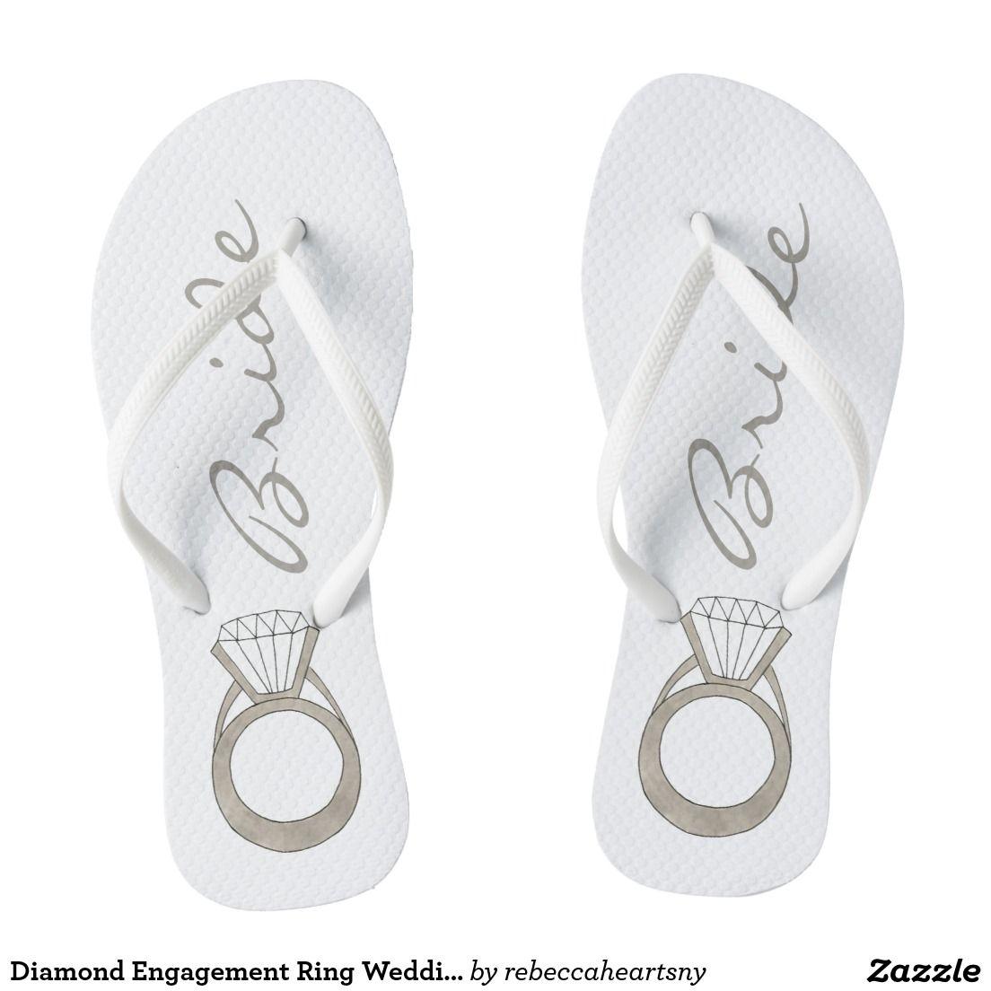 Diamond Engagement Ring Wedding BRIDE Flip Flops   Lisa shower ...