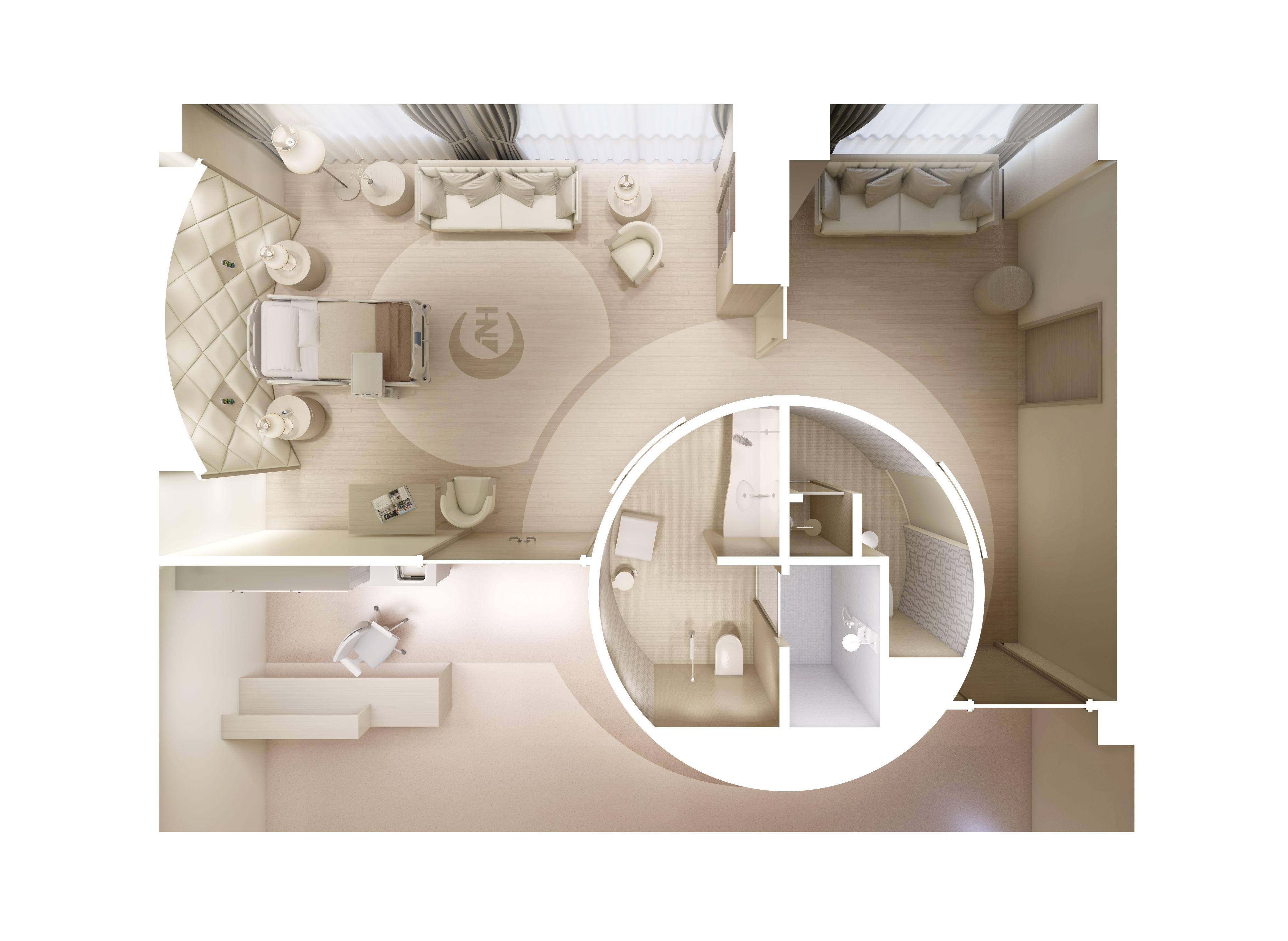 Private hospital room plan - Hospital Royal Suite Plan