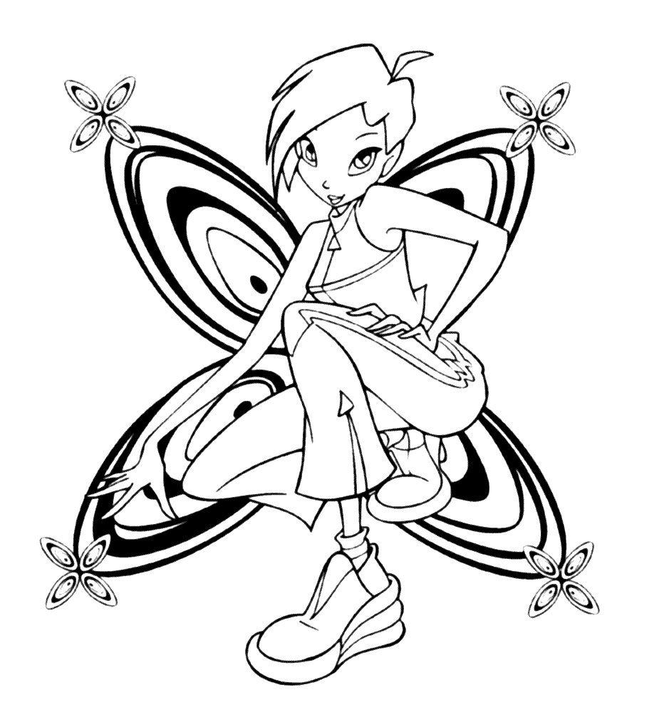 Tinkerbell Das Geheimnis Der Feenflügel Ausmalbilder : Winx Club Coloring Pages Tecna Coloring Pages Pinterest Zeichnen