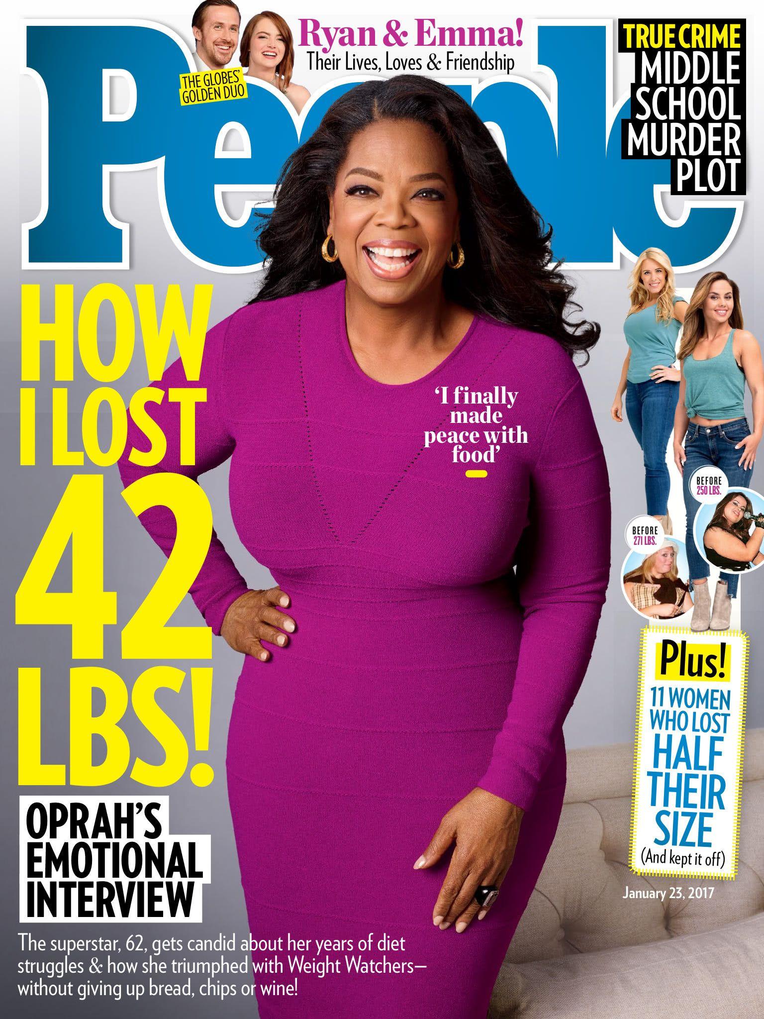 Oprah Winfrey wearing Beladora earrings and ring in People Magazine ...