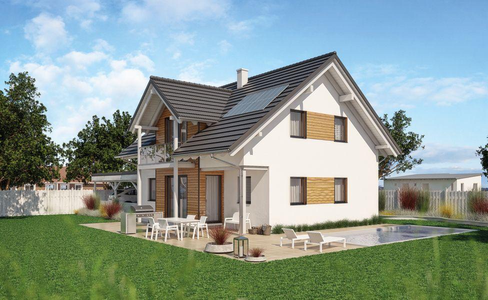 Einfamilienhaus fertighaus haas g139 von haas haus for Fertighaus grundrisse einfamilienhaus