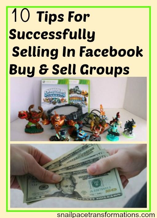 For Selling In Facebook Buy And Sell Groups Selling on Facebook is a great way to make cash off items you no longer use. I have seen returns as high at $100 for just a few minutes work.Selling on Facebook is a great way to make cash off items you no longer use. I have seen returns as high at $100 for just a few minutes work.