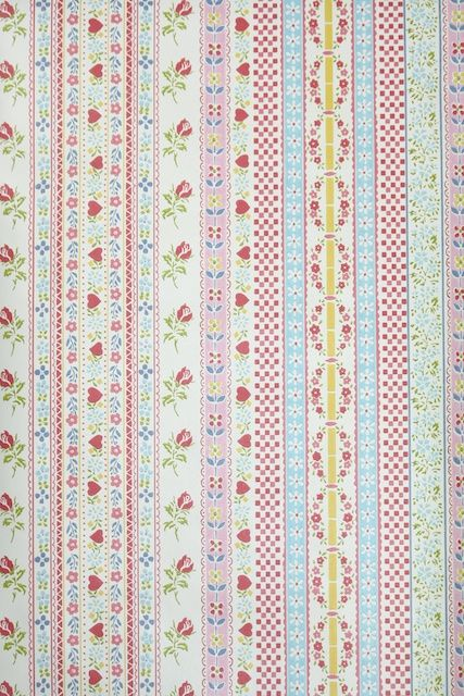 Retro Vintage Cute Pink Stripe Wallpaper