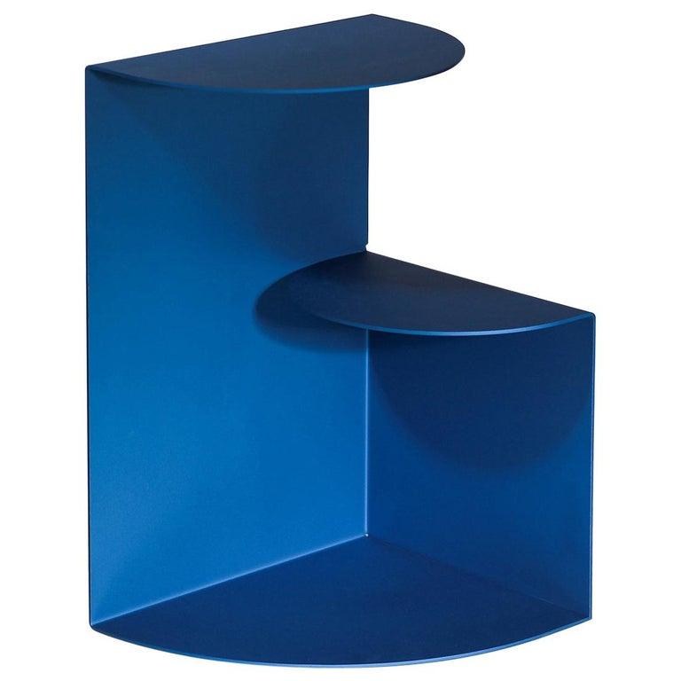 Bi Level Powder Coated Aluminum Side Table By Hayo Gebauer Customizable Color Aluminum Furniture Aluminum Siding Side Table