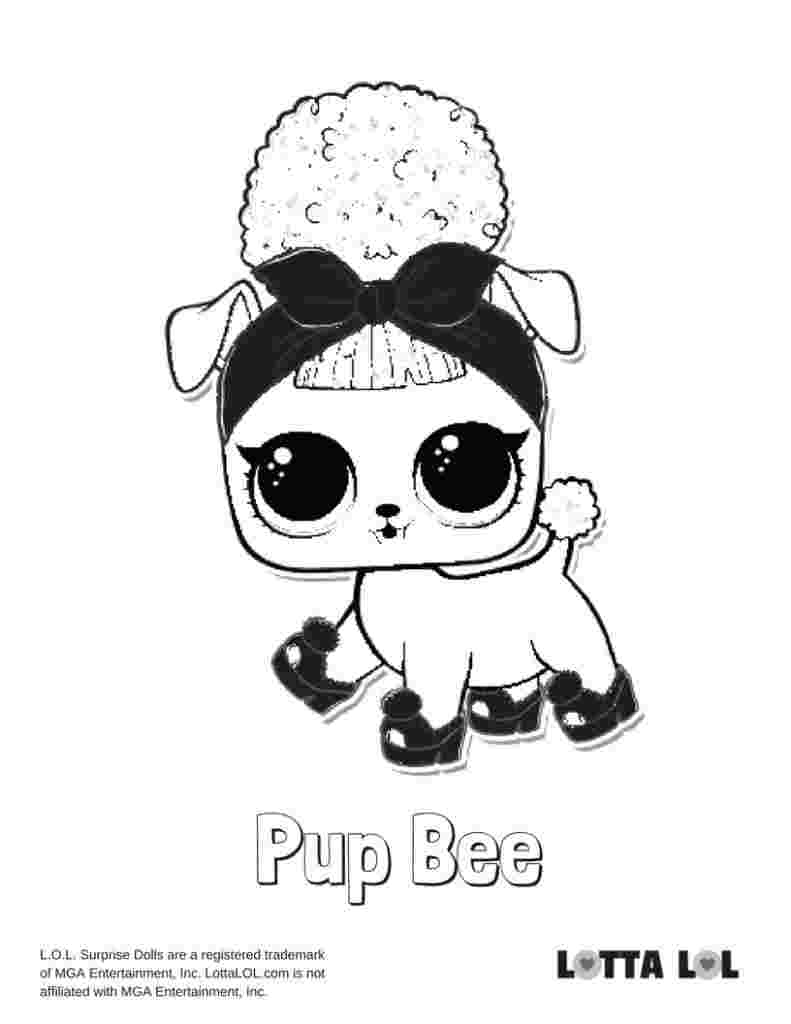 Lol Doll Coloring Pages Queen Bee Tips