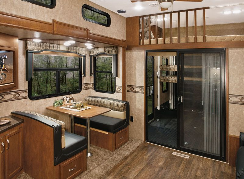 Kz recreational vehicles inferno photo gallery - Toy haulers with front living room ...