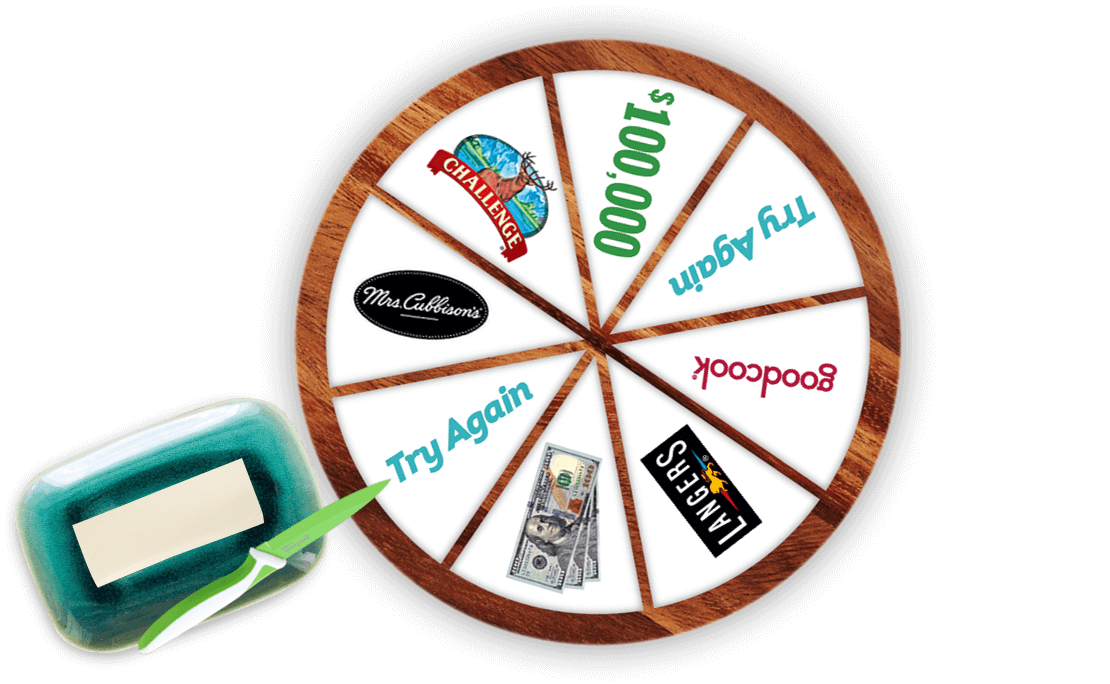 You could win $100,000  I spun the online prize wheel for a