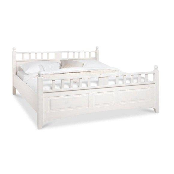 Bett In Holz Weiss Betten Schlafen Produkte Bett Bett Landhausstil Landhaus Bett