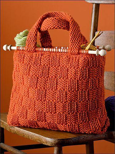 Basket Weave Yarn Bag pattern by Bendy Carter