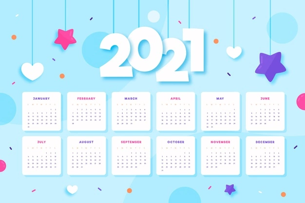 Download Illustrated 2021 Calendar Template for free in 2020